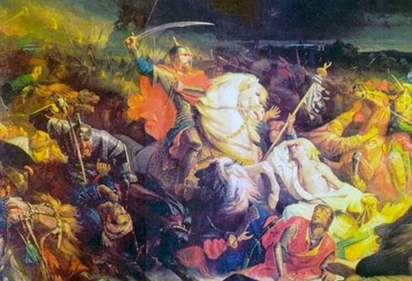 Куликовская битва. Адольф Ивон, 1849 год.
