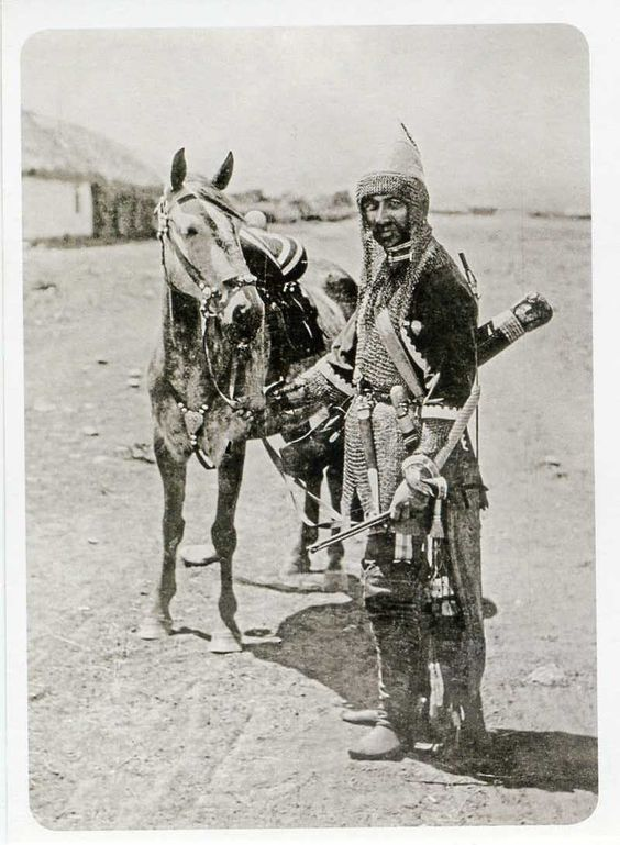 Karbadian North Caucasus mountains in armour circa 1890s.jpg