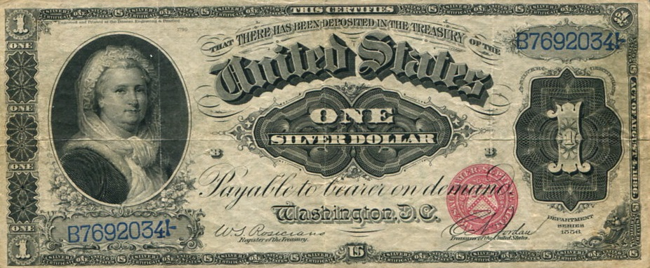 Доллар с Мартой Вашингтон. <br>