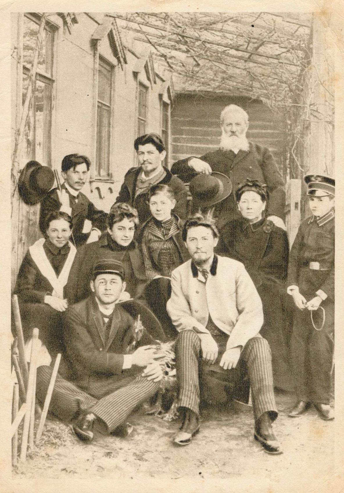 Чехов перед отъездом на Сахалин. <br>