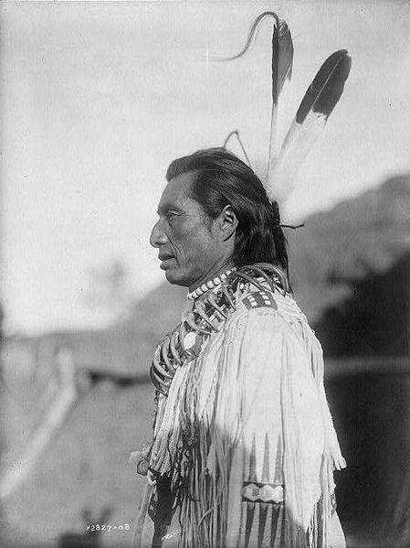 Индеец из племени манданов.