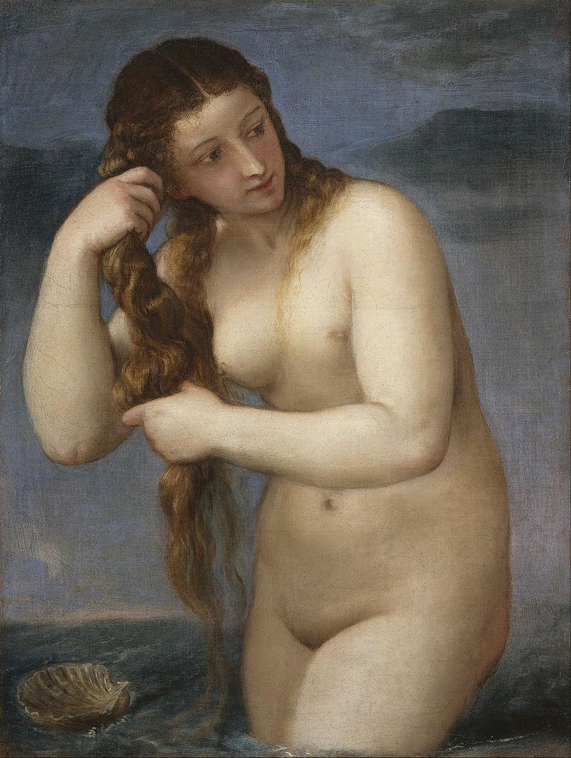 Тициан. Венера Анадиомена. <br>
