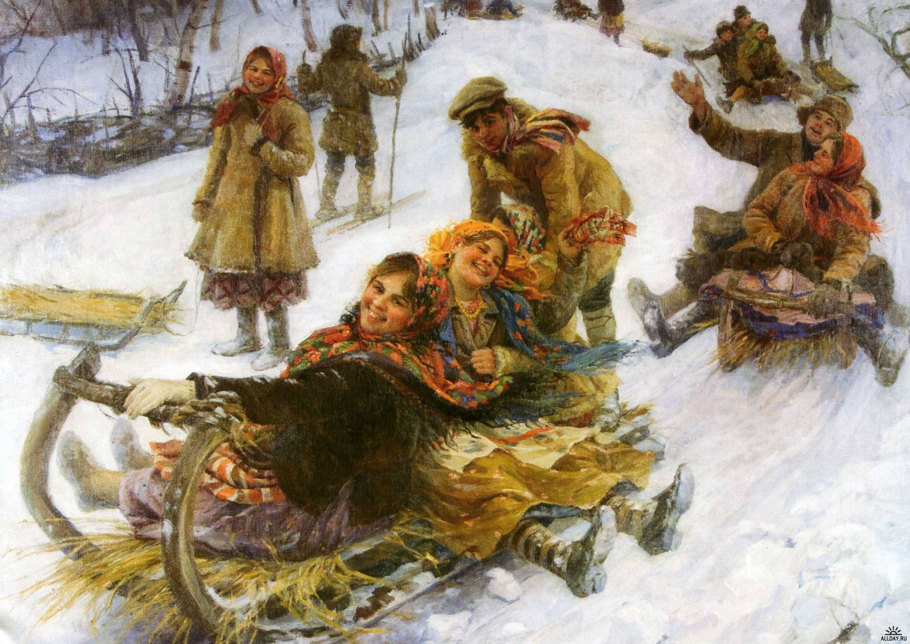 Зимние забавы на руси доклад 9174