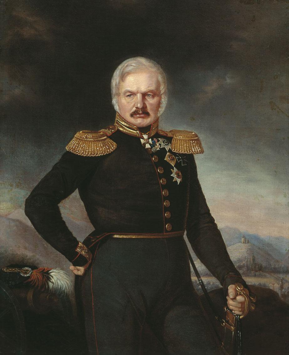 П. Захаров. Портрет генерала А. П. Ермолова. 1843.