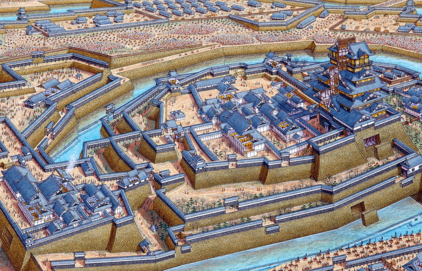 Осака, 1614 г.