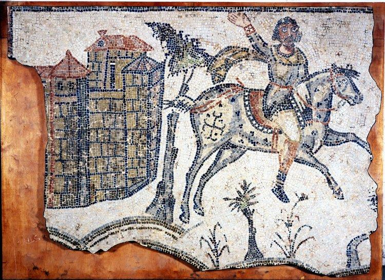 Вандальский всадник. Мозаика в Тунисе, ок. 500г.