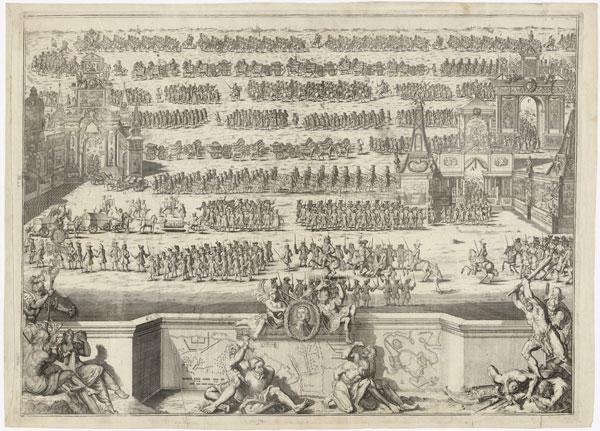 Гравюра Питера Пикарта, 1711.