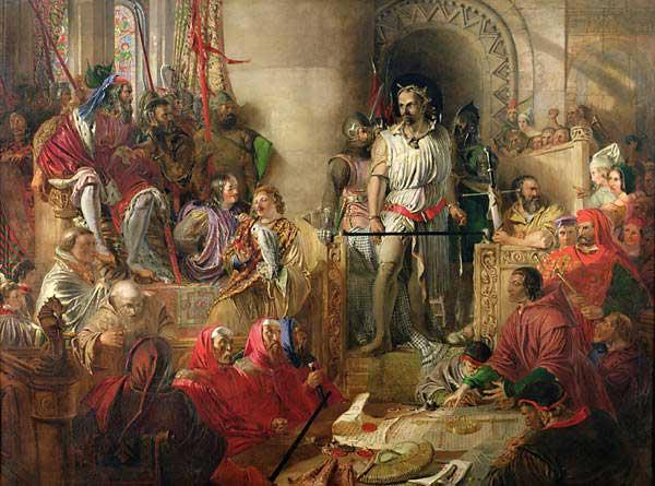 Уоллес на суде в Вестминстере. Картина Дэниела Маклиза, XIX век.jpg
