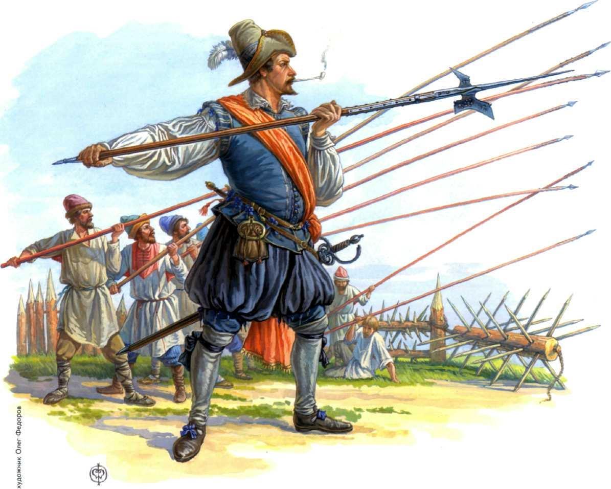 Сержант отряда Христиана Сомме обучает русских ратников.