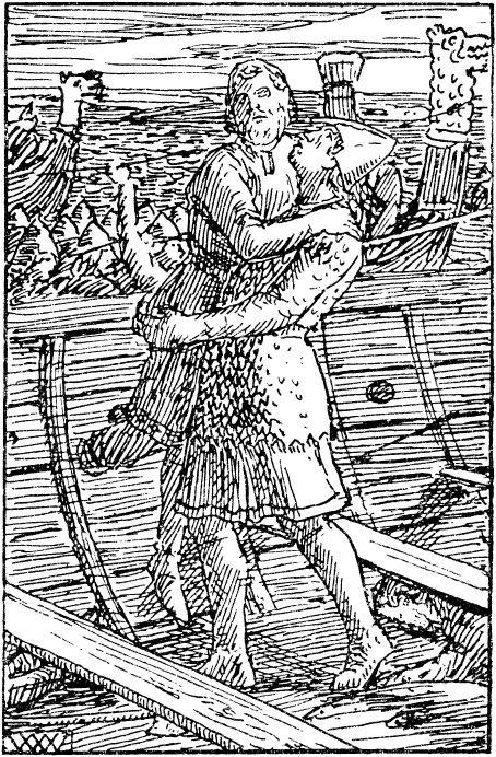 Смерть Магнуса Слепого, средневековая миниатюра.