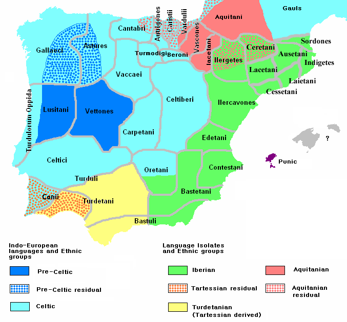Племена древней Испании.