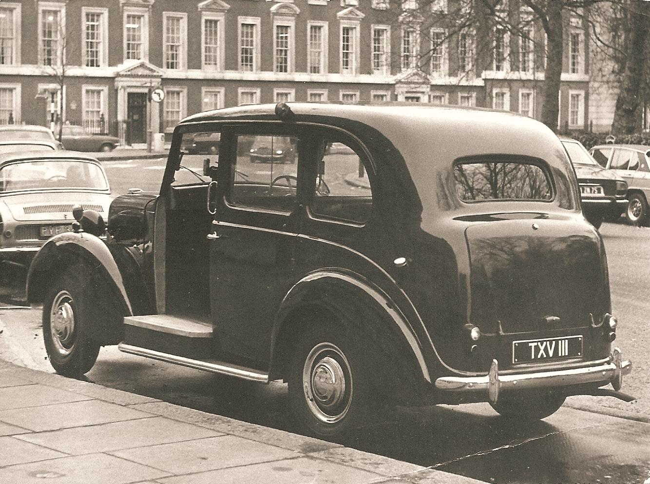 Такси Лондона, 1970-е.