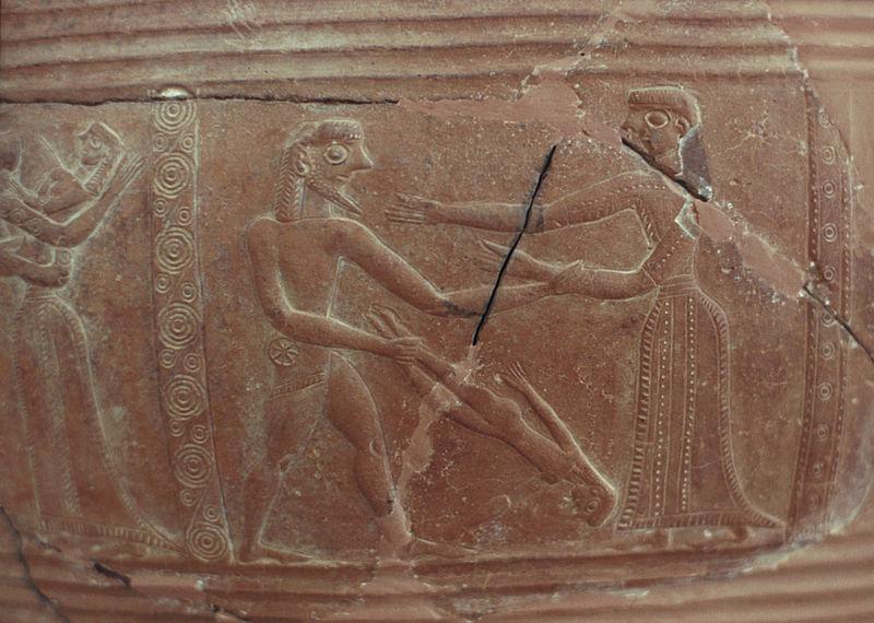 Разграбление Трои на пифосе с&nbsp;Миконоса. <br>