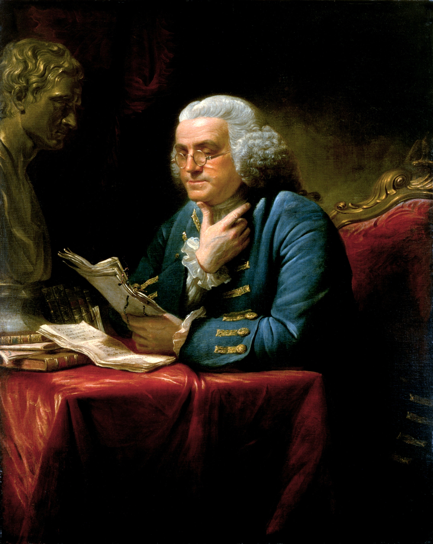 Портрет Бенджамина Франклина кисти Дэвида Мартина, 1767 год
