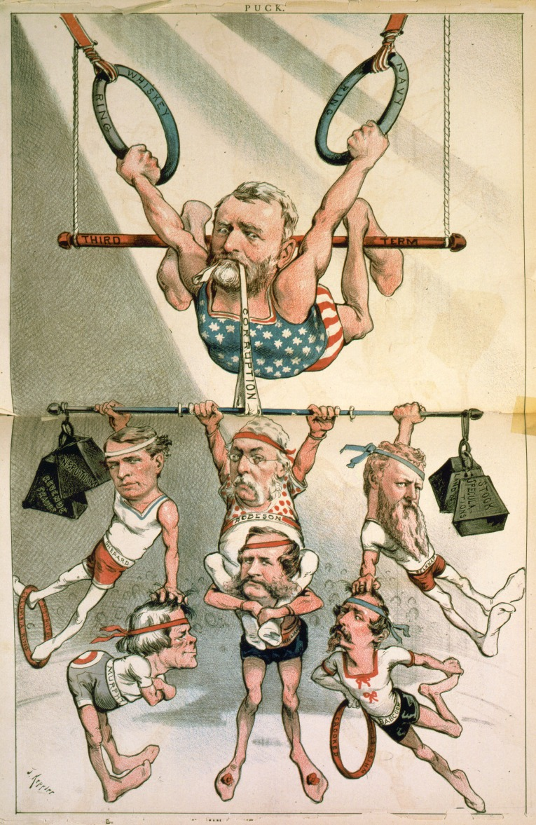 Карикатура на Улисса Гранта, 1880 год. <br>