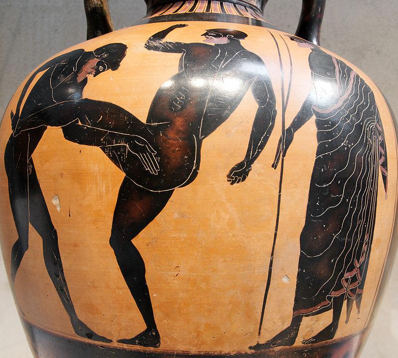 Изображение панкратиона на вазе.