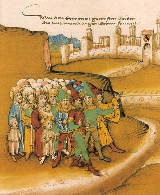 Первое появление цыган за пределами Берна, гравюраXV века.