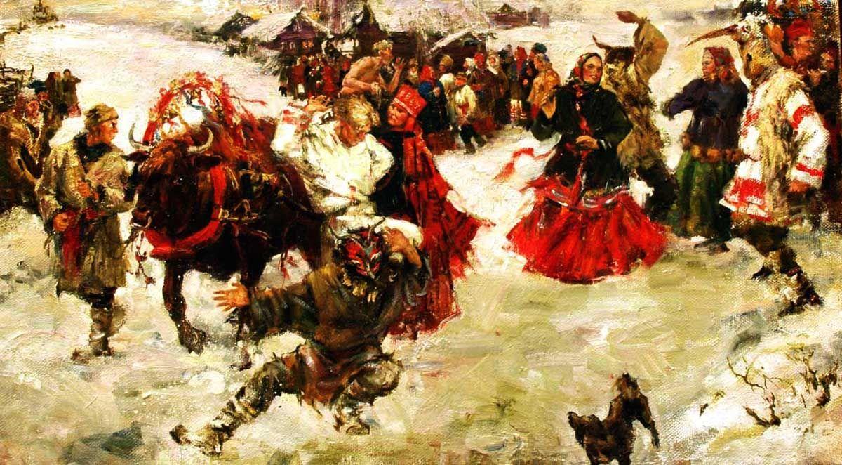 Русские народные гуляния картинки, кошкой про