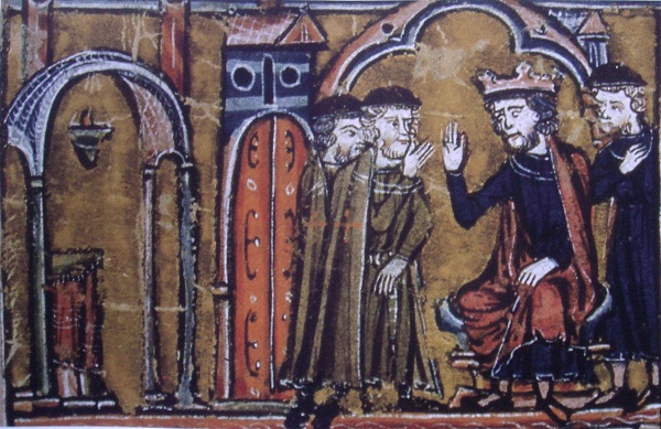 Король Балдуин II дает приют тамплиерам.