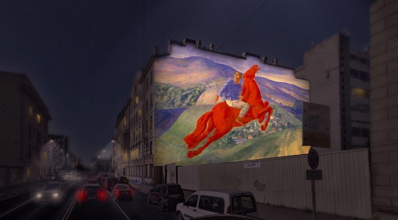 В Петербурге появится световая копия картины Петрова-Водкина