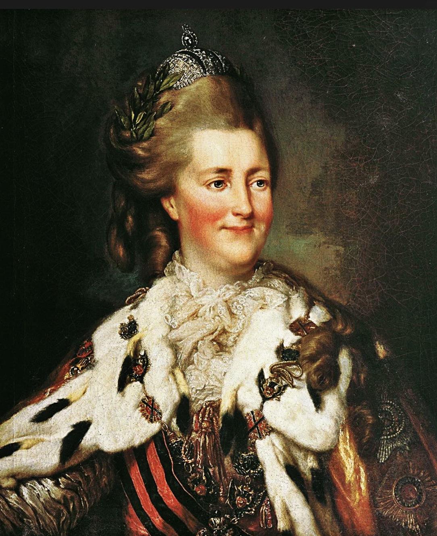Екатерина II. Звезда ордена на&nbsp;мантии справа. <br>