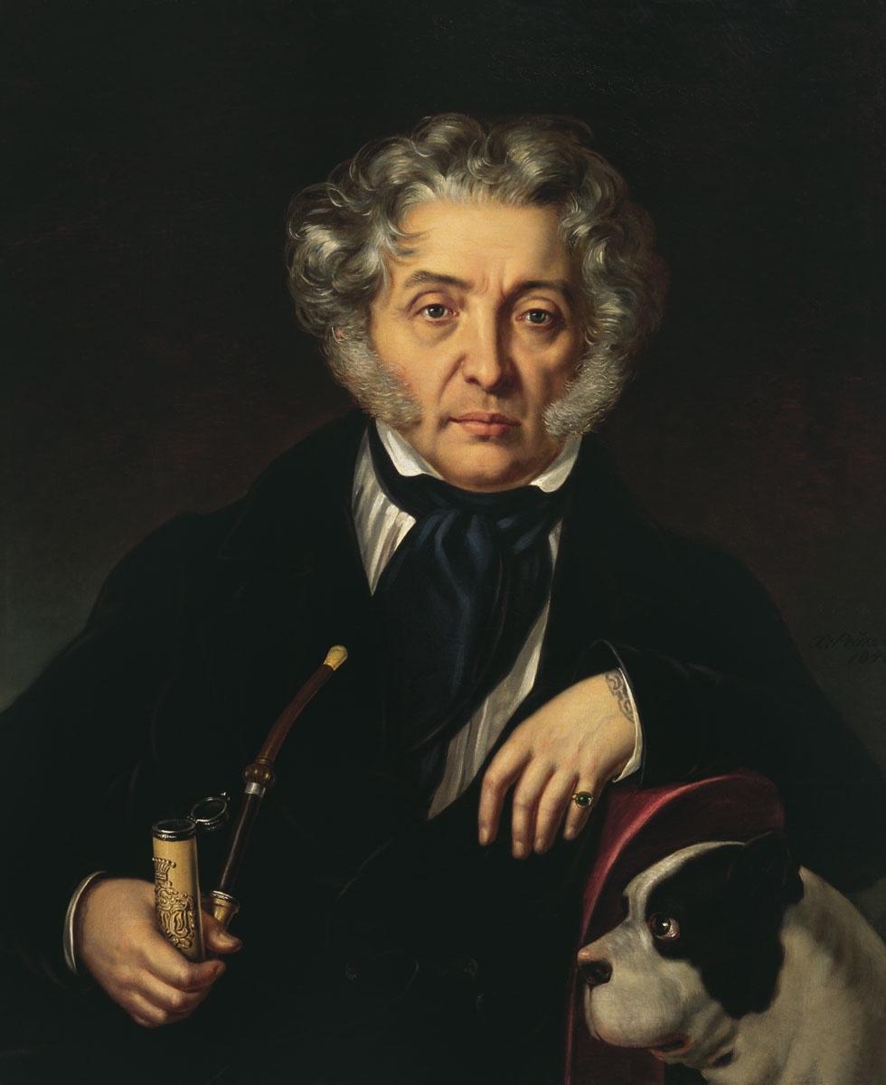 Граф Толстой. Филипп Рейхель, 1846.