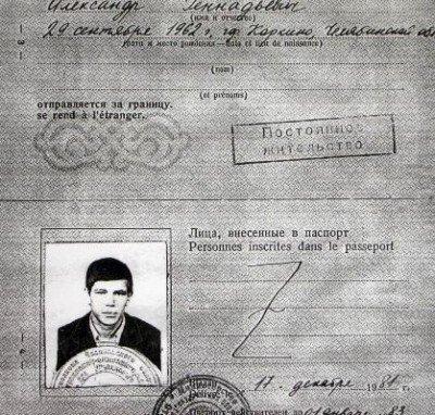Паспорт Мельникова.