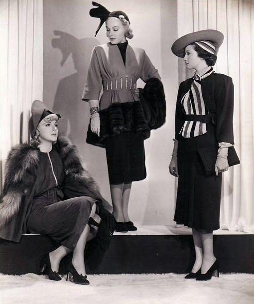 Мода 1930-х.  Источник: Pinterest