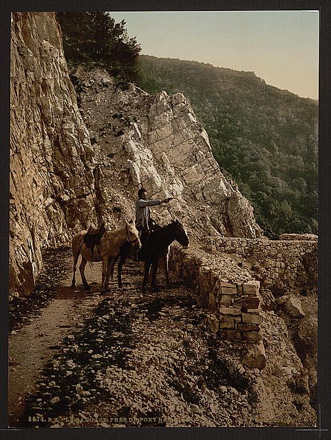 [Near the Bagatski Bridge Caucasus Russia] ca 1890-1900.jpg