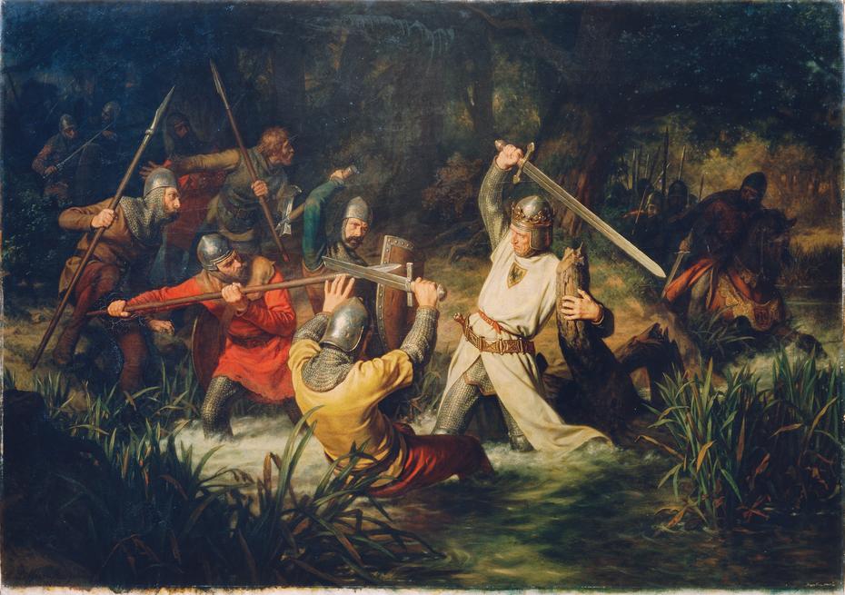 Рудольф на поле боя. Источник: Wikimedia Commons