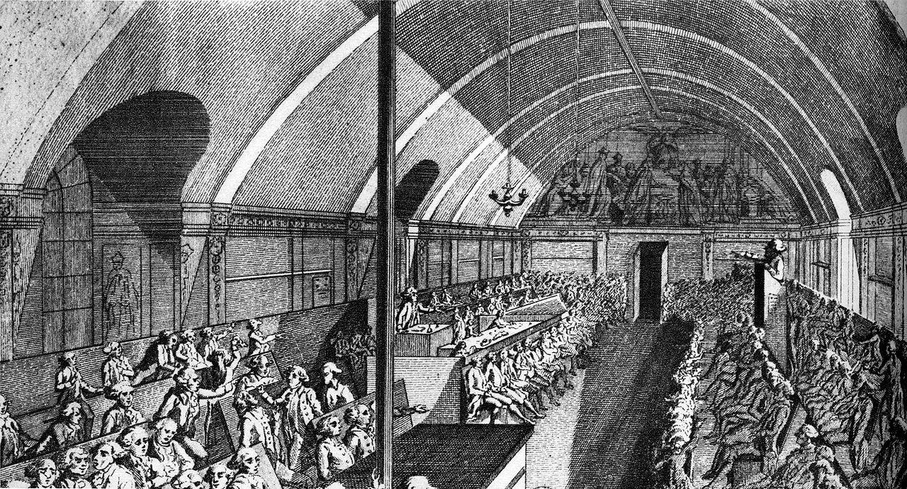 Якобинцы заседают в монастыре святого Якова. <br>