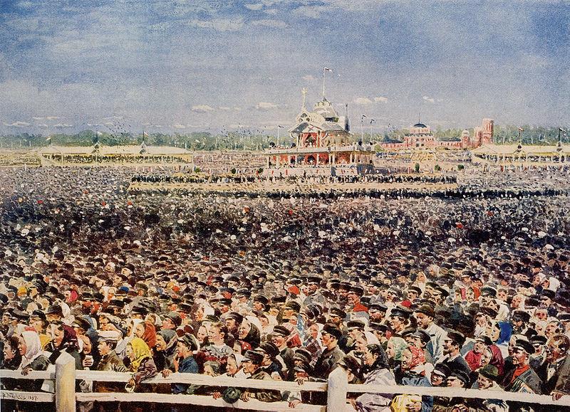 Маковский. Народные гуляние на Ходынском поле в1896 году.