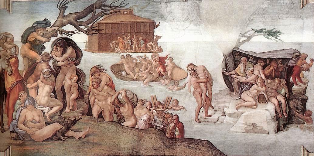 Микеланджело Буонаротти. Всемирный потоп.