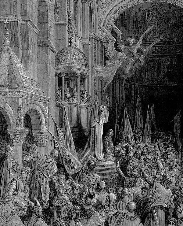 Энрико Дандоло благословляет крестоносцев. Картина Гюстава Доре.