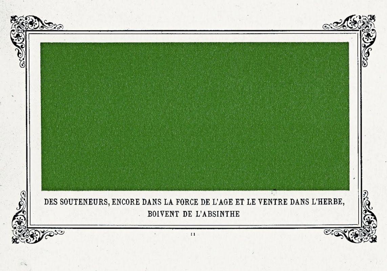 «Сутенёры в расцвете сил, пьющие абсент, лежа наживотах втраве», 1884.