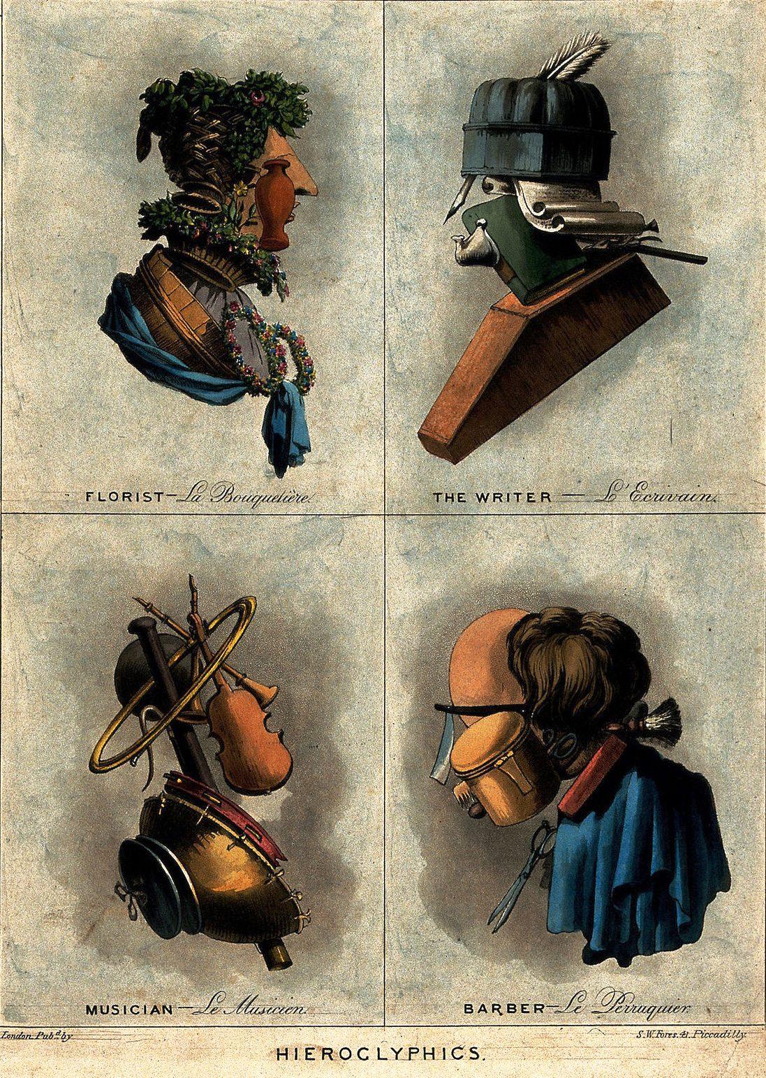 Флорист, писатель, музыкант, парикмахер, около 1800.