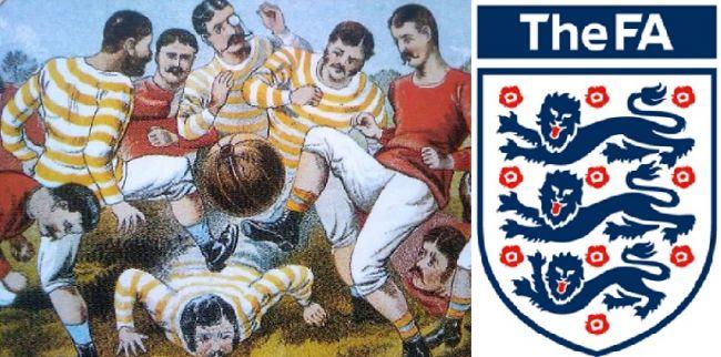Эмблема Футбольной ассоциации Англии.