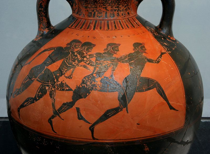 Бегуны - участники Панафиней. Ваза, ок. 530 года до нашей эры.jpg
