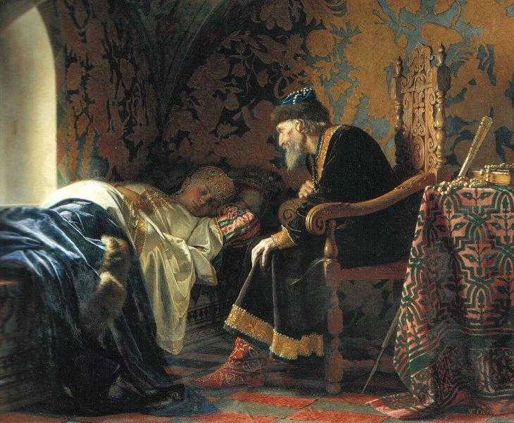«Царь Иван Грозный любуется на Василису Мелентьеву», картина Г. Седова. 1875.jpg