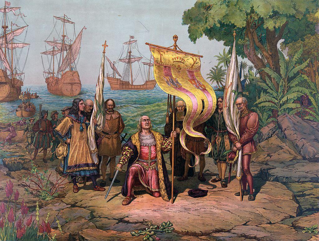 Колумб в Америке. <br>