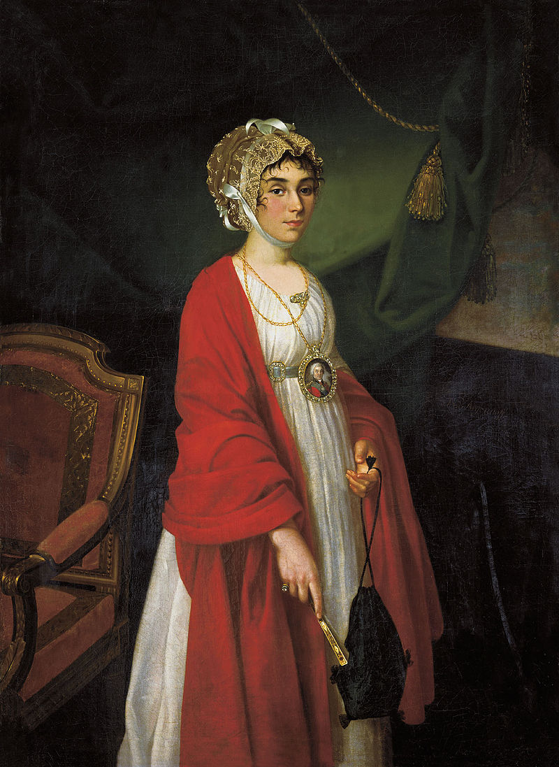 Портрет Прасковьи Жемчуговой-Шереметевой работы Николая Аргунова, 1803 год.jpg