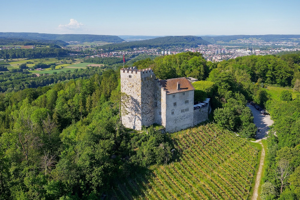 Родовой замок Габсбург на севере современной Швейцарии. Источник: Wikimedia Commons