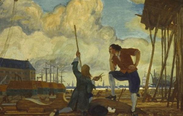 М. Добужинский. Пётр I вГолландии. 1910 год.