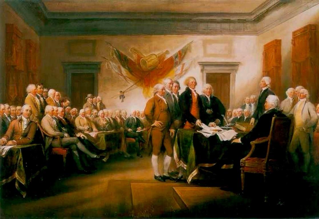 Подписание Декларации независимости.