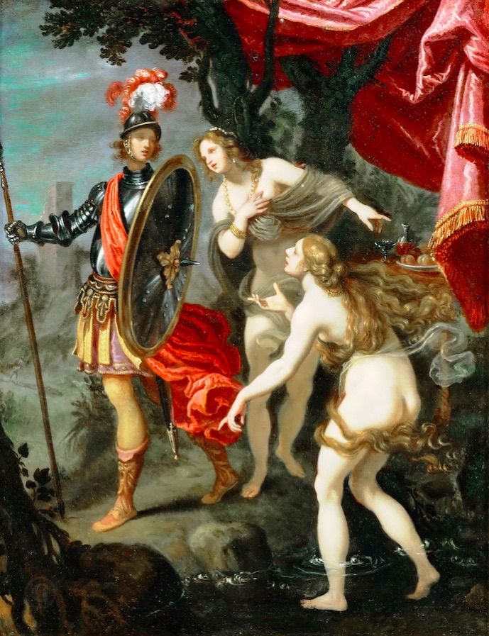 Джованни Биливерти. Сцена из поэмы Торквато Тассо «Освобождённый Иерусалим», ок. 1630.