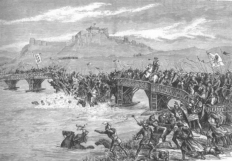 Битва на Стерлингском мосту. Рисунок XIX века.jpg