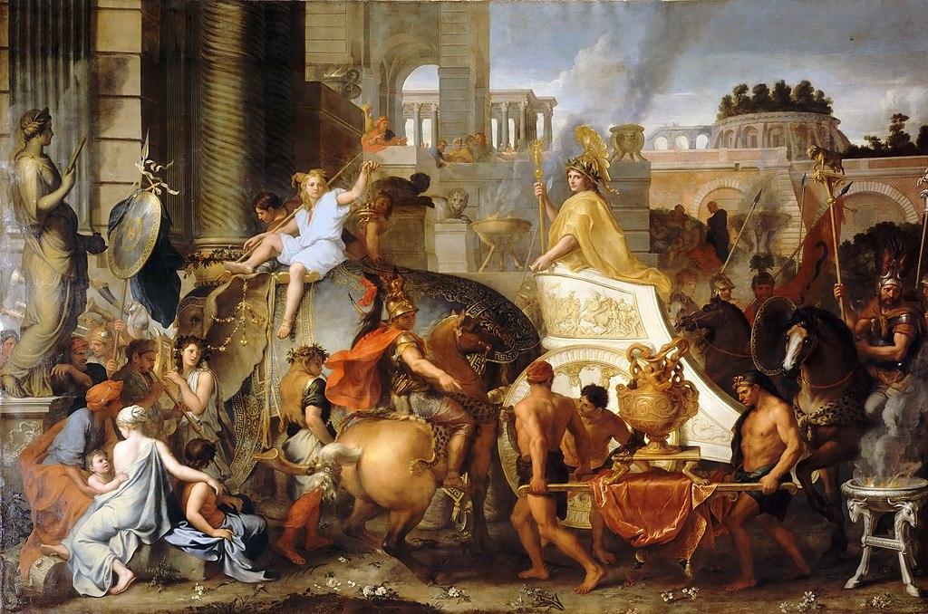 «Александр вступает в Вавилон» Лебрен.