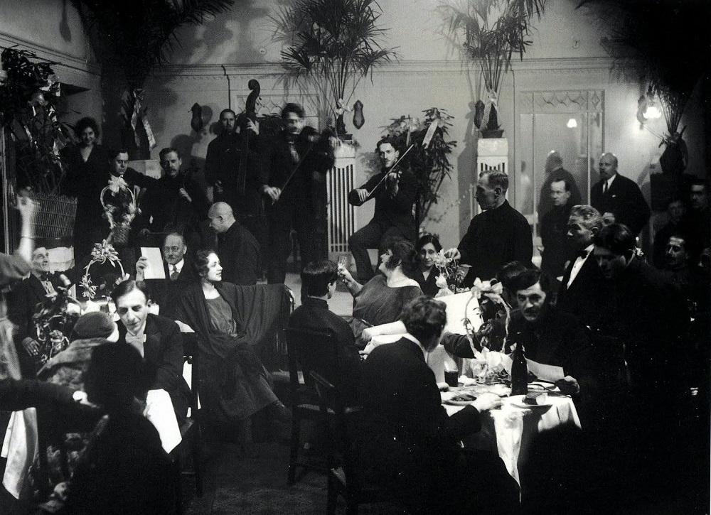 Банкетный зал гостиницы «Европейская», Ленинград, 1924.