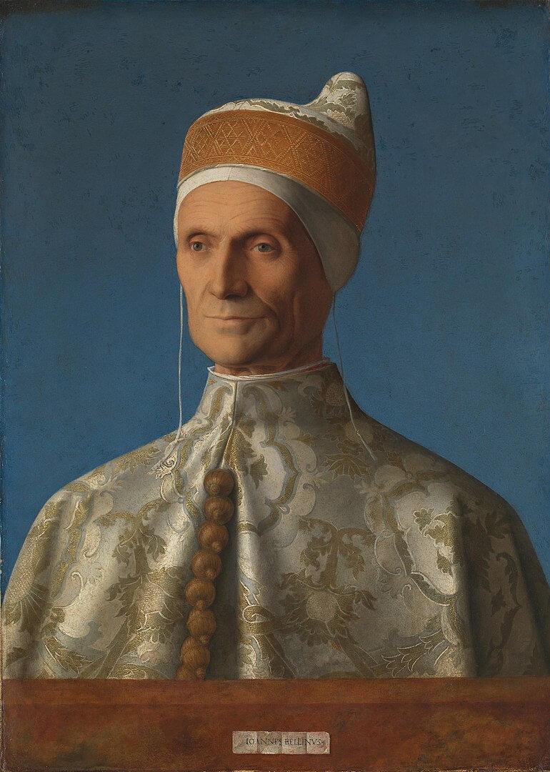 Портрет 75-го венецианского дожа Леонардо Лоредано кисти Джованни Беллини. Дож увешан помандерами.