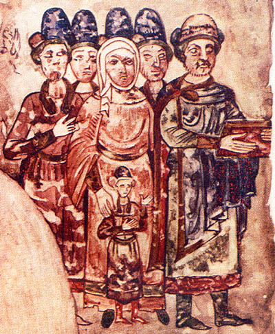 Святослав Ярославич с семьей. Миниатюра из Изборника 1073 года.jpg